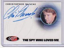 James Bond 50th Anniversary Christopher Muncke auto card