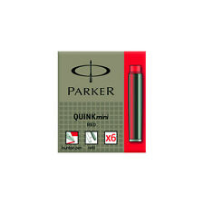 Parker Quink Mini Ink Cartridges - Red 6 Pack S0767230