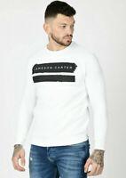 Jameson Carter Mens Crew Neck Fleece Warm Designer Fashion Sweatshirt Jumper