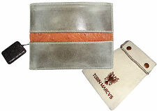 LIMITED 1 OF 4   RFID SHIELD Veg. Tanned  CALFSKIN LEATHER WALLET BIFOLD OSTRICH