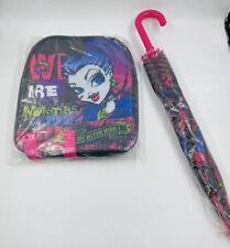 Monster High Niñas Paraguas y Bolsa Escolar Bolsa tanto nuevo con etiquetas