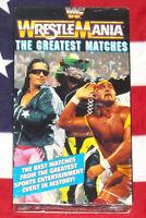 NEW WWF Wrestle Mania Greatest Matches VHS 1994 Hulk Hogan Andre The Giant NEW