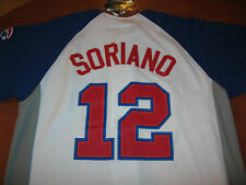 CHICAGO CUBS SORIANO #12 GENUINE MERCHANDISE MENS BASEBALL JERSEY (L) NWT NEW