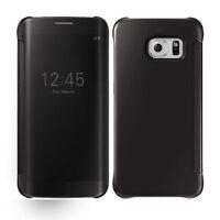 Housse Coque ETUI Pochette Flip Cover Puce MIROIR SAMSUNG Galaxy S6 / S7 /EDGE/+