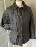 Tom Joules Showerproof Country Style Padded Jacket Uk 12 Brown Cord Trim