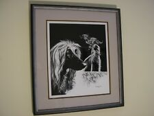 Afghan Hound Print, 1979 by Carol Ann Excellent Condition