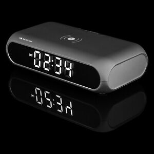 Betacom BCC01QI QI Charging LED Clock with dual alarm, wireless & USB charging