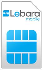 Lebara NL €5 Prepaid 3 in 1 sim 3G 4G card karte Netherlands Holland Niederlande