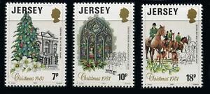 Jersey: 1981 Christmas (282-284) MNH