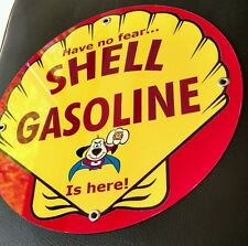 Shell Gas Oil gasoline sign #2  Underdog