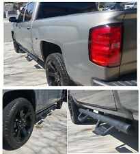 07-17 Chevy Silverado Matted Crew Cab Hoop Nerf Bar Running Boards Side Step