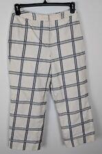Talbots Black White Windowpane Cotton Dress Pants Lined Made in USA Womens Sz 6