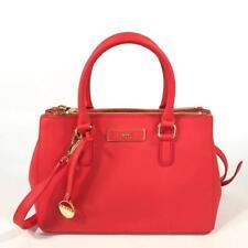 DKNY Donna Karan Small Satchel Handbag CrossBody Bag Coral