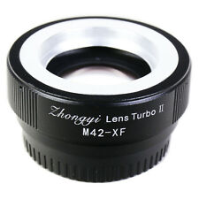Zhongyi Focal Reducer Booster Turbo II M42 screw Lens to Fujifilm X Adapter Pro2