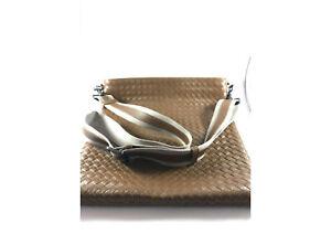 Bottega Veneta intrecciato weave messenger bag brown/tan - Unisex - AS NEW