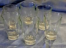 N° 6 bicchieri da liquore in vetro anni 50 - vintage