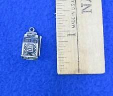 Slot Machine Necklace Pendant Charm Sterling Silver .925 Antiqued Vintage