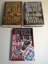 Jeffrey Archer Hardcovers As the Crow Flies/Honor Among Thieves/ 12 Red Herrings
