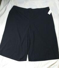 NEW Catherines 4X Black Stretch Refined Fit Dress Capri Goucho Pants boxH