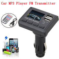 Car FM Transmitter Modulator MP3 Music Player Dual USB Charging SD MMC Remote