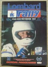 LOMBARD RAC RALLY Official Programme A4 22-26 Nov 1987 WORLD RALLY CHAMPIONSHIP