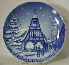 BAREUTHER Bavaria 1990 CHRISTMAS Collector Plate OLD FORGE IN ROTHENBURG 7-3/4""