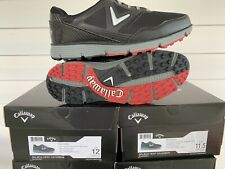 Brand New Callaway Balboa Vent Men'S Golf Shoes Black 9.5 Medium Msrp $85.