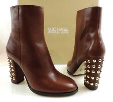 Michael Kors Linden Bootie Studded Ankle Zip Boots Booties Mocha Brown Size 6