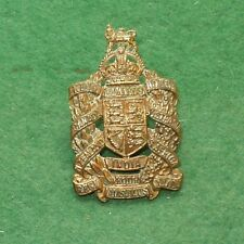 KING EDWARDS HORSE BRASS CAP BADGE