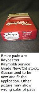 Disc Brake Pad Set-Service Grade; Organic Front Raybestos SGD117