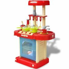 vidaXL Kids Playroom Toy Kitchen Cooking Cooker Pretend Play Role Light/Sound