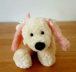 Mary Meyer Yellow and Peach Plush Puppy Purple Collar 7 Inches 2000
