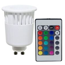 Lampada Lampadina LED RGB GU10 Telecomando Faretto Colori 4W Luce Multicolore