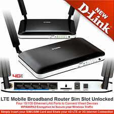 4G / 3G 150Mbps LTE Mobile Broadband Router Sim Slot Unlocked DWR-921 D-Link