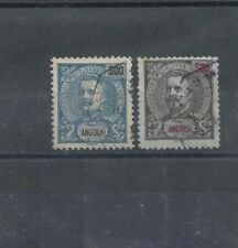 ANGOLA D. Carlos used 300 and 500 Reis stamps