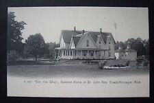 BEN MAC DHUI Summer Home of JOHN ALEX. DOWIE (Zion), Montague, MI postcard