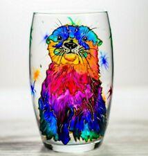 Otter Wine Glass Custom Otter Gift, Personalized Wine Tumbler, Drinking Glass