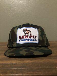 Vintage Style Mack Truck Camo Trucker Rope Golf Hat New