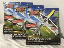 Lot 3 Air Hogs Rip Force Glider (color yel 00004000 low and black) Spinmaster New (Sealed)