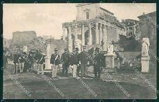 Roma Città Re di Grecia Militari Greece Royalty PIEGA cartolina QT1971