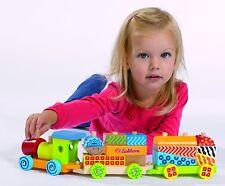 Eichhorn Color Holzzug 20-tlg inklusive Mädchen und Jungen Kinder Spielzeug NEU