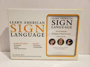 Learn American Sign Language by Arlene Rice (2007, Boxed Set)