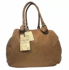 Costanza Rota Lara Vintage Leather Tote Bag Handbag Tan  Brown Italy