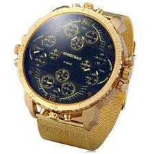 Mens Gold Shiweibao Watch BIG DIAL 4-movt Quartz Watch Male Quartz Luxury