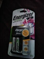 Energizer Recharge Basic Charger with 2 Aa NiMh Rechargeable Batteries New