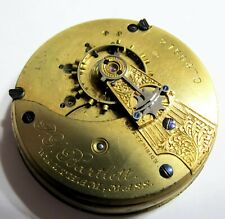 RUNS - 18S - WALTHAM PS BARTLETT - 15 JEWELS - POCKET WATCH MOVEMENT (C13)