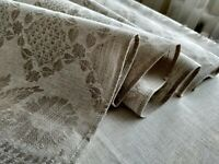 luxurious jacquard 100% Linen Table Runner ethnic towel Flax Natural Gray gift