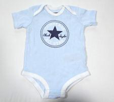 Neu All Star Converse Baby Jungen Body Anzug Hellblau Gr.65-70 3-6 Monate 18