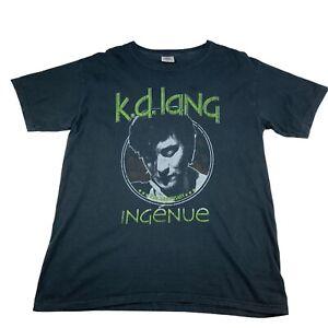 Kd Lang T Shirt Adults Large Graphic Print Black Pullover T Shirt