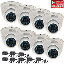 8 x Dome Security Cameras w/ SONY CCD 600TVL Outdoor IR Day Night Wide Angle m6h